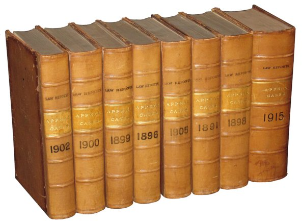# 3883 Set of 5 Law Reports (Appeal Cases) Books