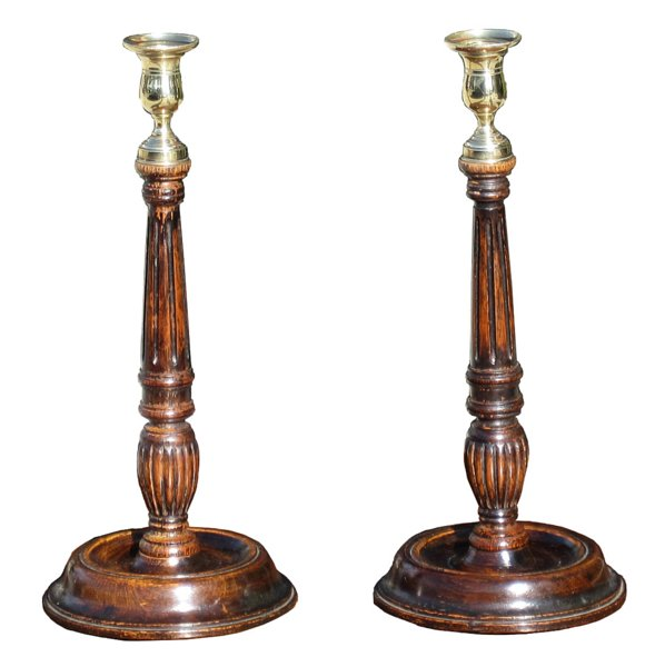# 3703 Pair of Georgian Candlesticks