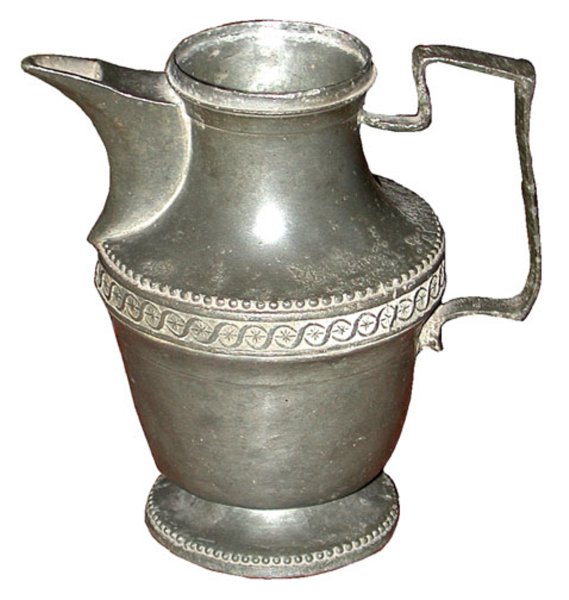 # 3138 Early Pewter Pitcher