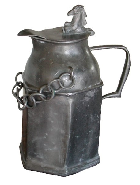 # 3132 Pewter Jug with Chain