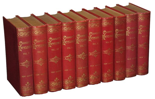 # 2145 Set of 10 Chambers Encyclopedia