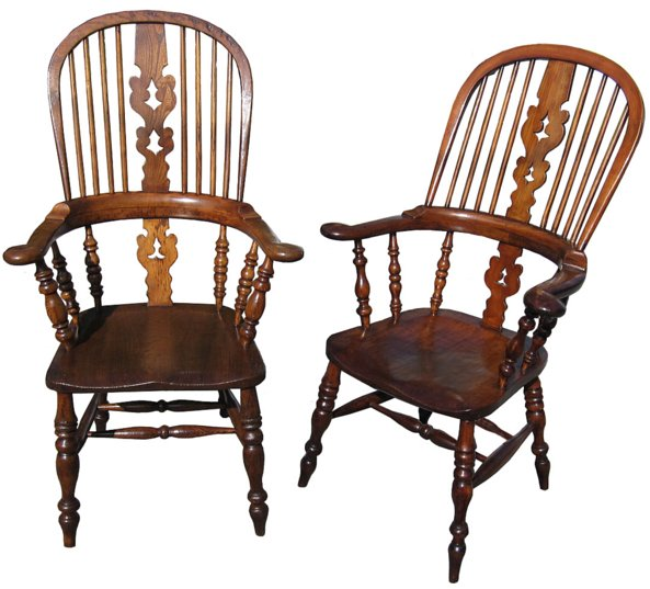 # 1026 Set of Four Windsor Broad Arm Chairs