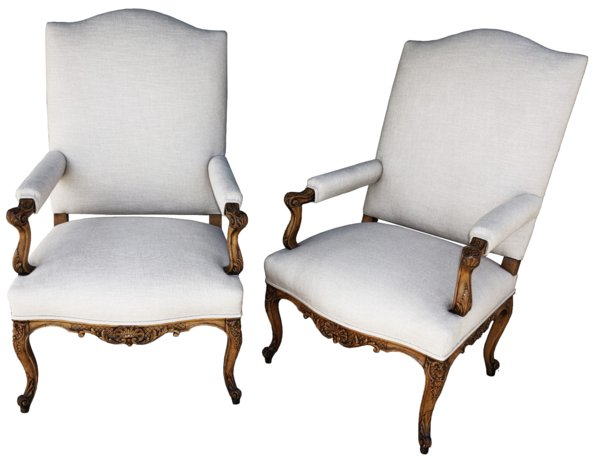 # 1078 Pair of Early Bergere Chairs