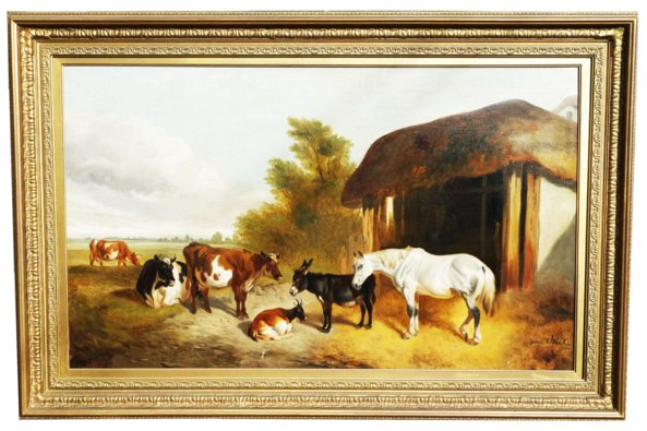 # 2429 Landscape with Horses and Farm Animals