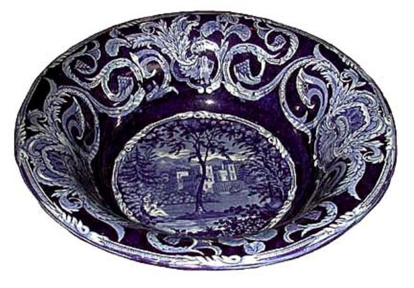 # 3243 Blue and White Bowl