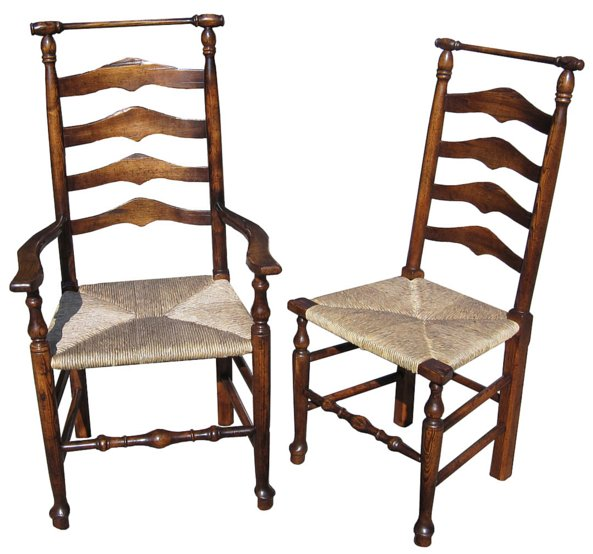 # 4844 Pair of Ladderback Armchairs