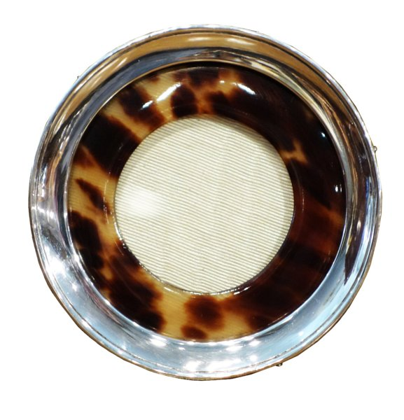 # 4979 Vintage Round Faux Tortoise Shell/Sterling Silver Frame