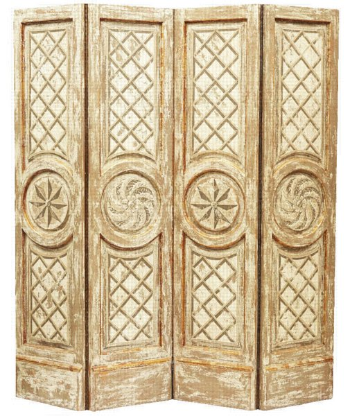 # 5205 Neoclassical Four Fold Screen