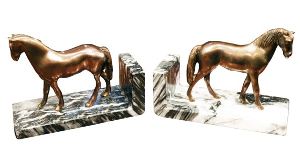 # 5287 Pair of Horse Bookends