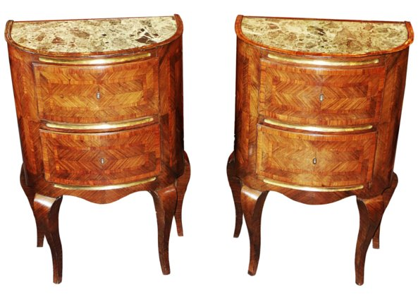 # 5326 Pair of Rococo Small Commodes